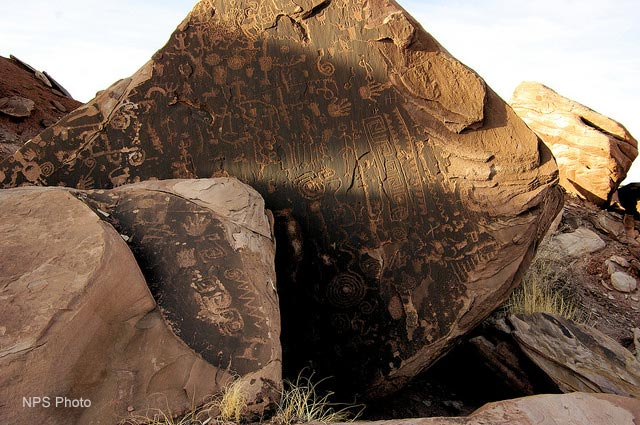 Petroglyph Solstice in the Petrified Forest National Wilderness | NPS Photo