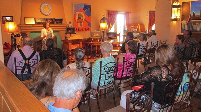 Melany Sarafis presentation at the La Posada Hotel in Winslow, AZ | NPS Photo