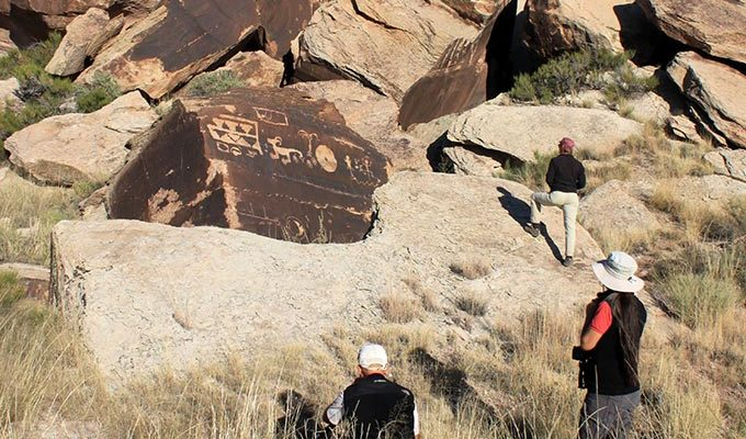 Golden Disk Rock Art Panel | NPS Photo
