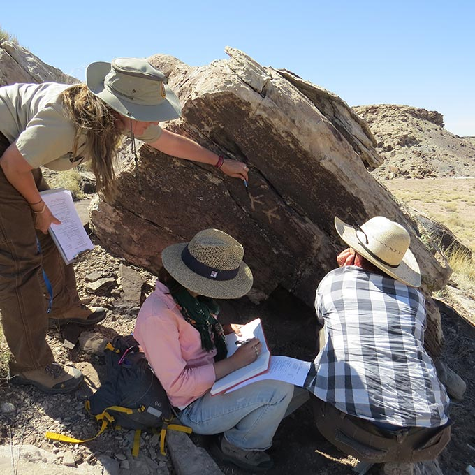 Recording rock art | NPS Photo