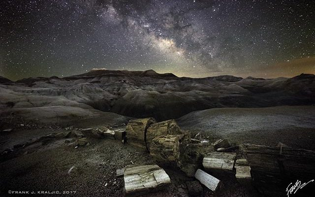 Milky Way and Broken Logs by Frank Kraljic