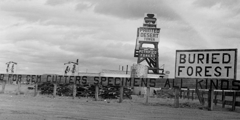 The Painted Desert Tower, 1957 | NPS Photo